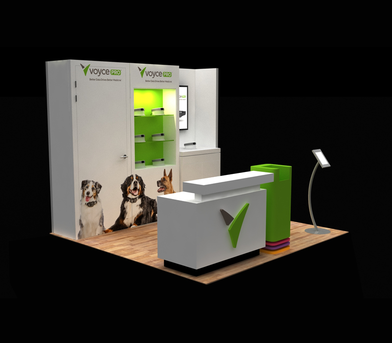 10x10 Voyce Pro Custom Trade Show Display Designs