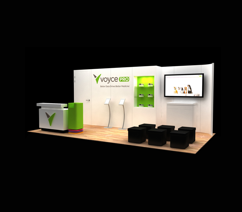 10x30 Voyce Pro Custom Trade Show Display Designs