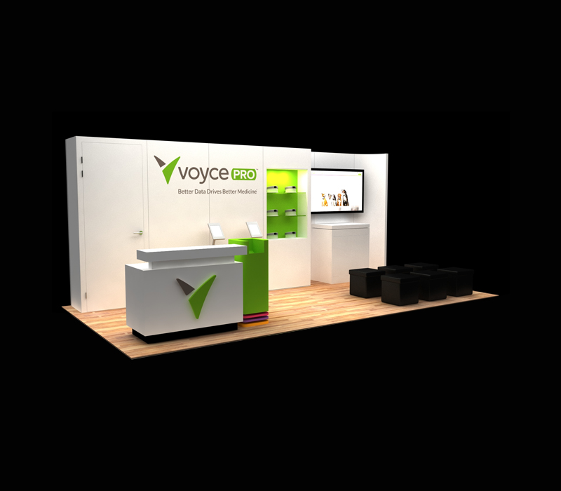 10x30 Voyce Pro Custom Trade Show Booth Designs