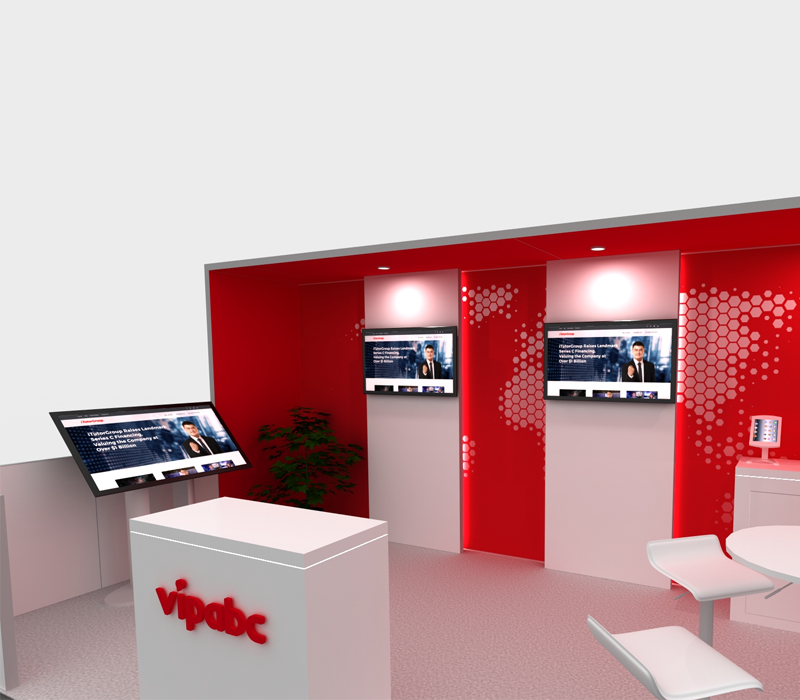 Trade Show Exhibit with Monitors
