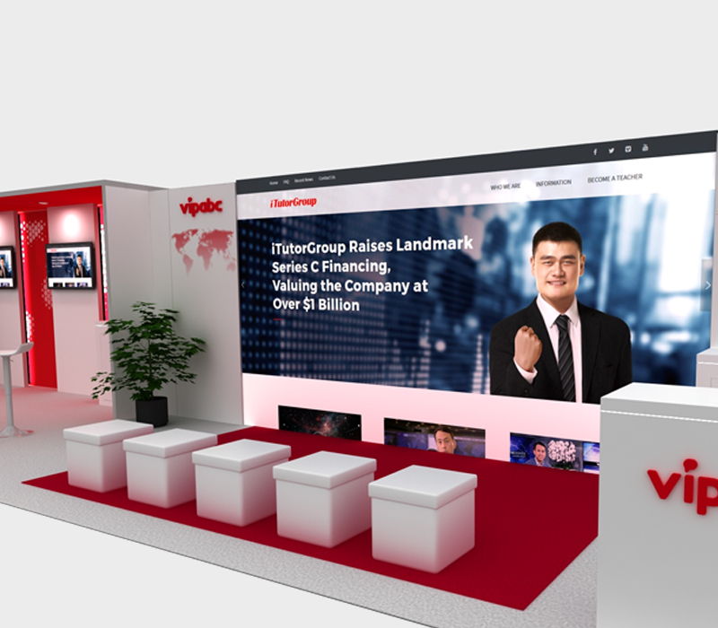 10x40 Trade Show Booth with Video Wall