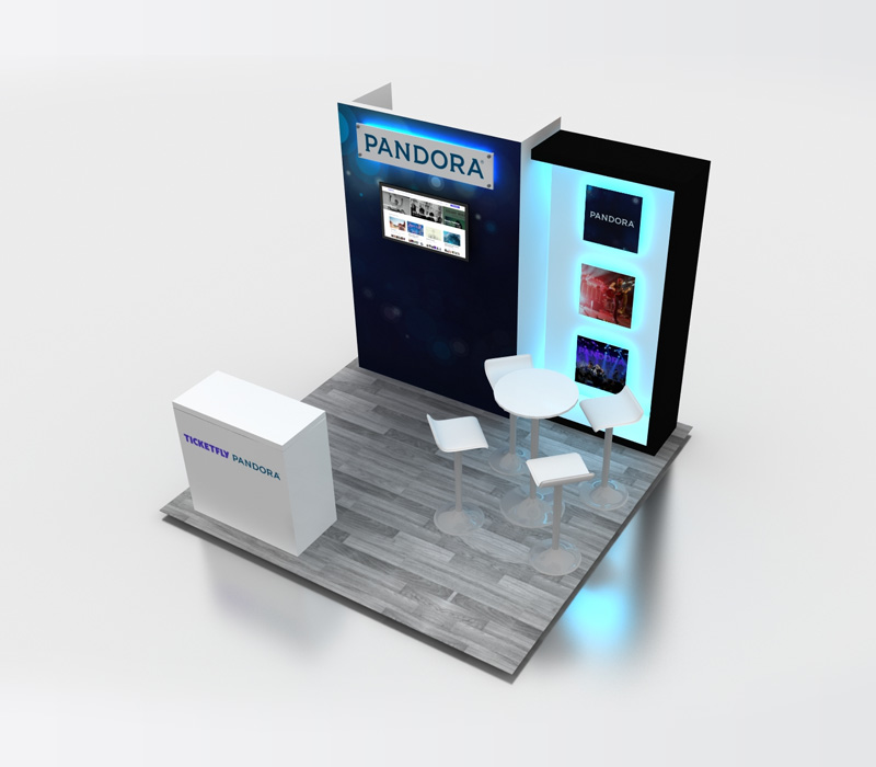 10x10 Ticketfly Display