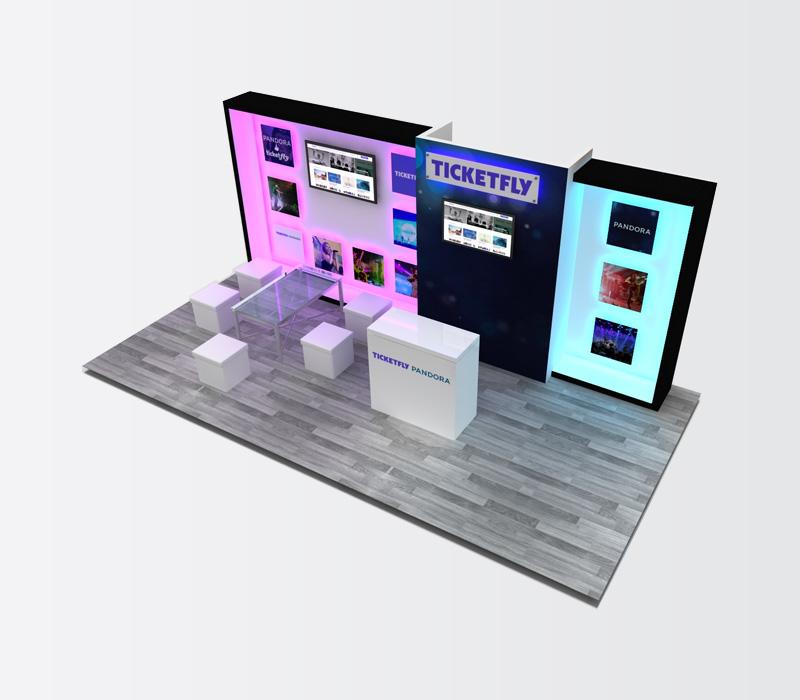 10x20 Custom Ticketfly Display