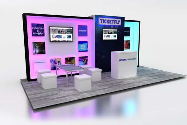 10 x 20 custom inline booth INTIX trade show