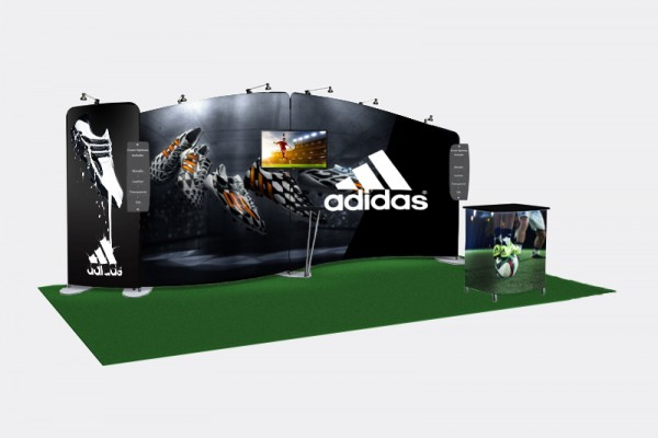 Adidas retail pop up booth