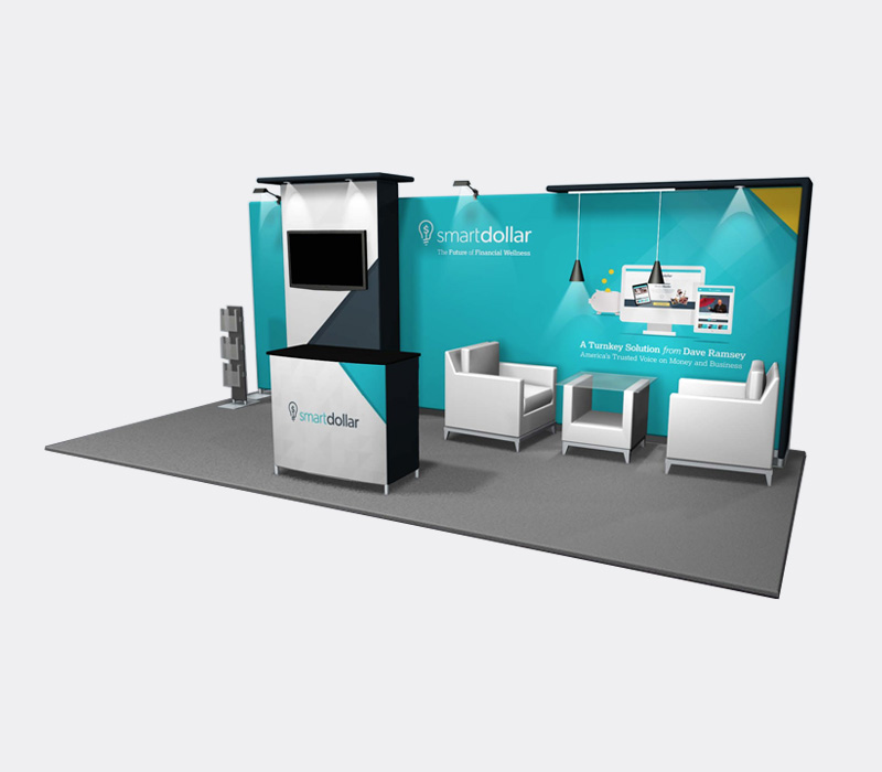 10x20 Custom Pop Up Exhibit for Trade Shows