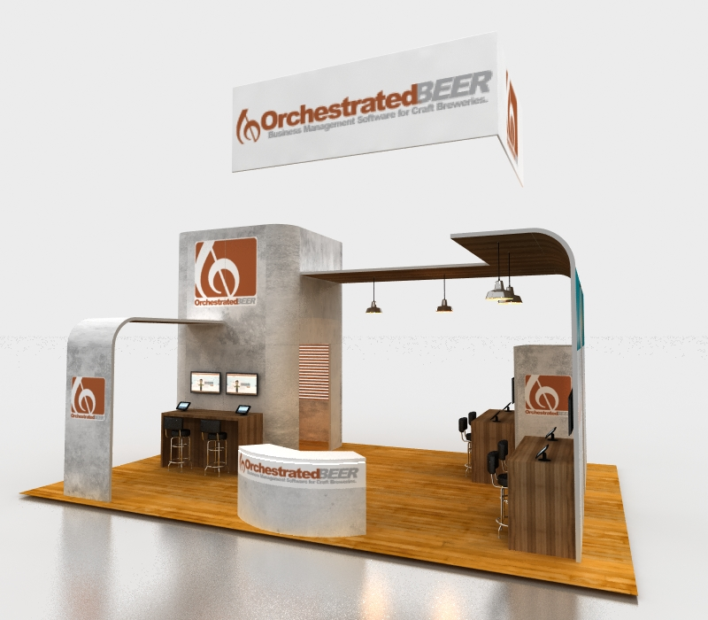 20 x 30 Custom Trade Show Exhibit