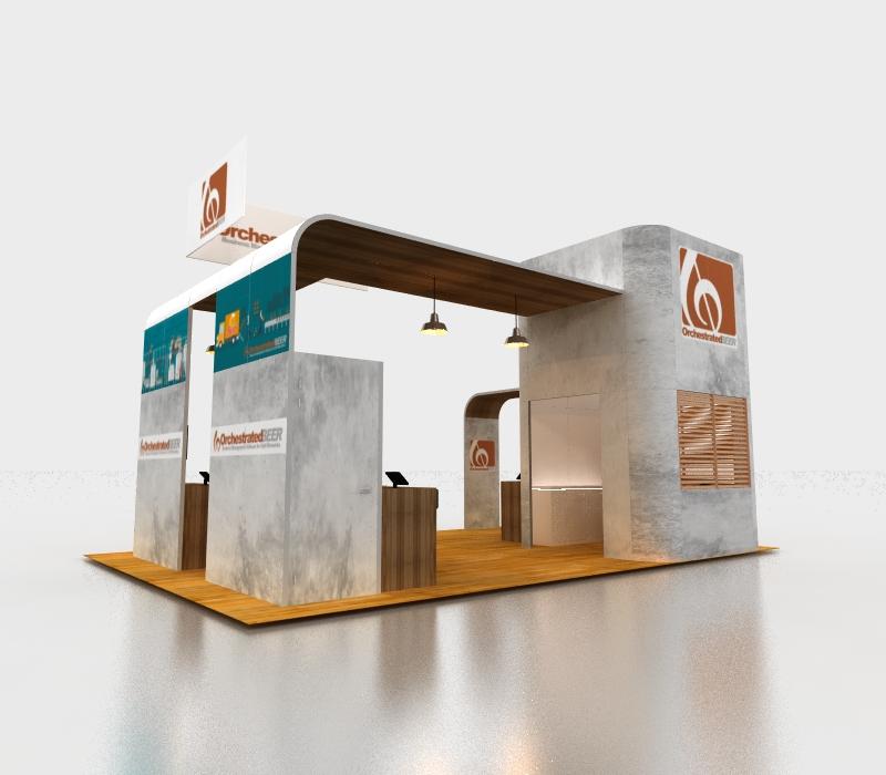 20 x 30 Custom Trade show designs