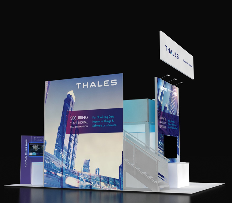Thales Double Deck Booth 20x30