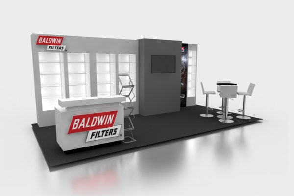 10 x 20 inline Baldwin Filters Booth