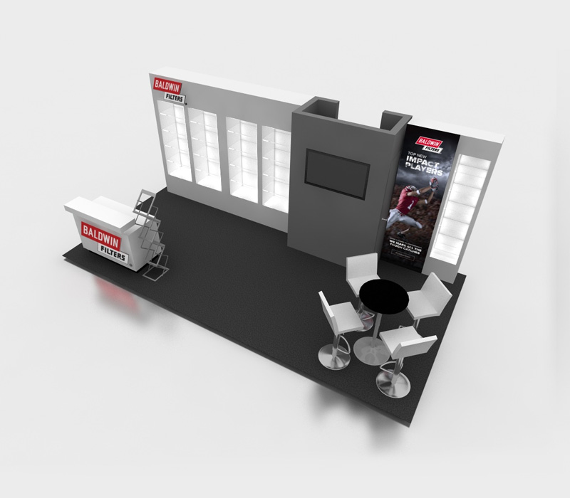 Product display trade show booth