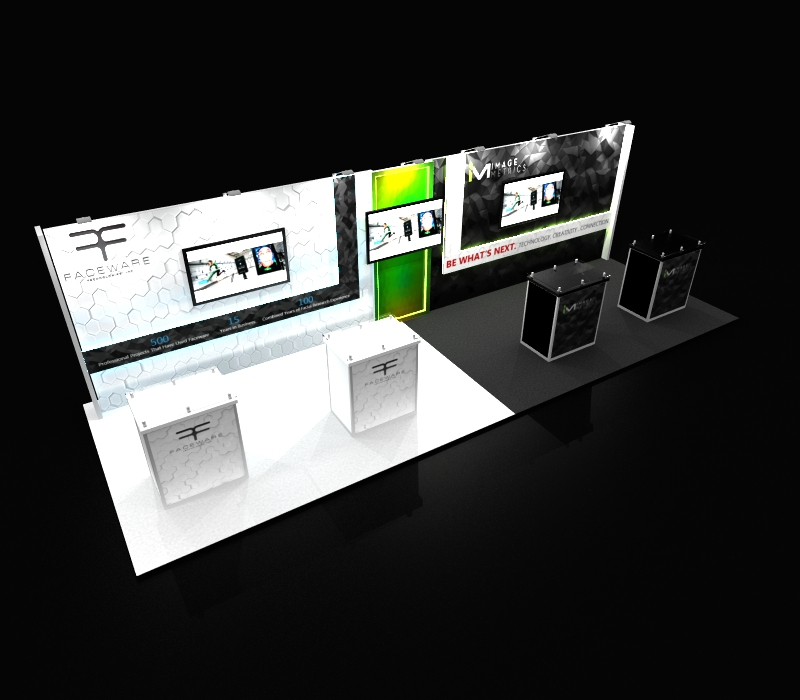 Faceware Tech 10 x 30 Trade Show Display
