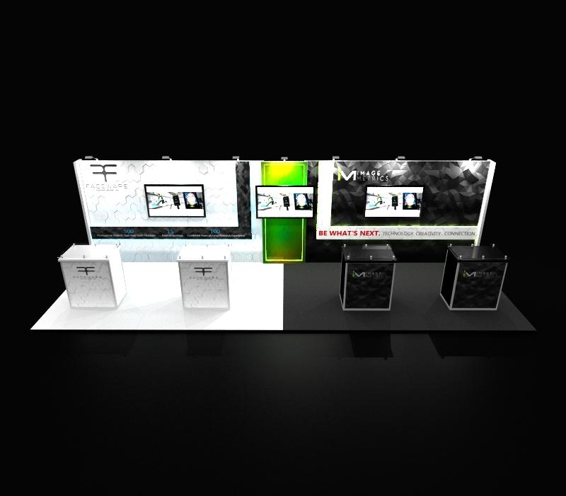 Faceware Tech 10 x 30 Trade Show Booth