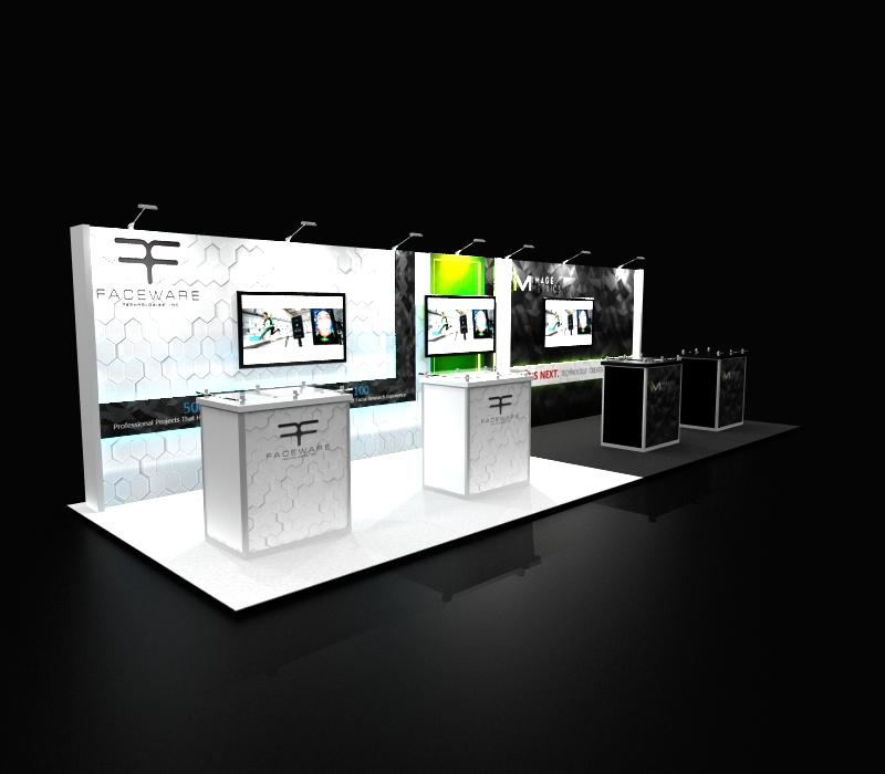 Faceware Tech 10 x 30 Trade Show Exhibit