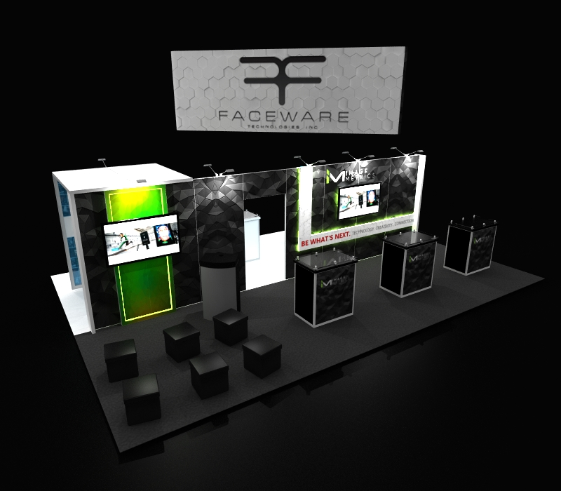 faceware tech 20 x 30 Exhibit with theater seating