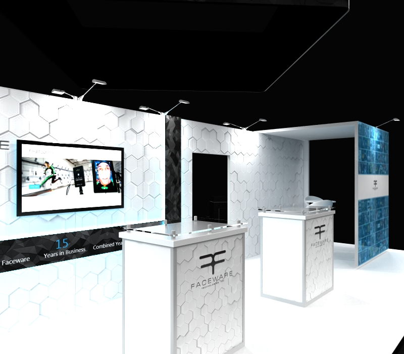 faceware tech 20 x 30 Exhibit with demo station