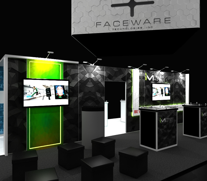 faceware tech 20 x 30 Booth with Demo station