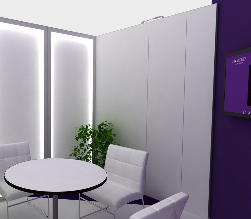20 x 20 Kathy Ireland Diamonds Trade Show Booth Conference Room
