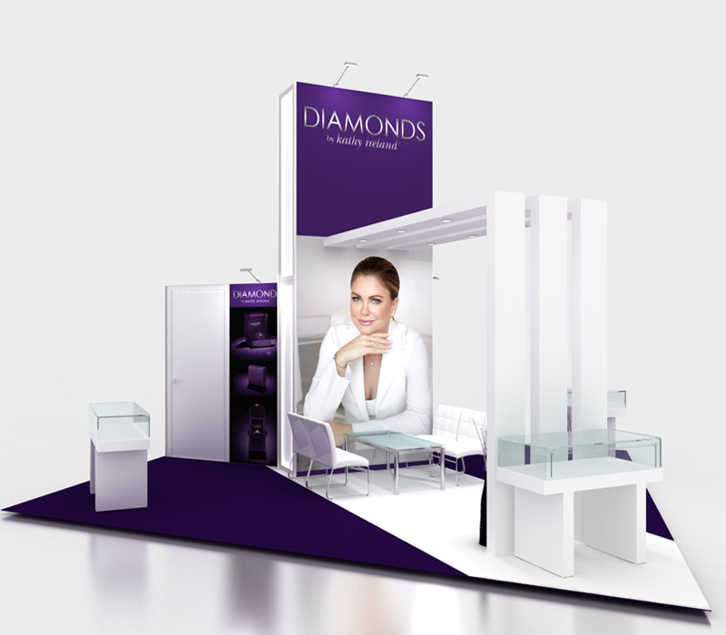 20 x 20 Kathy Ireland Diamonds Trade Show Booth