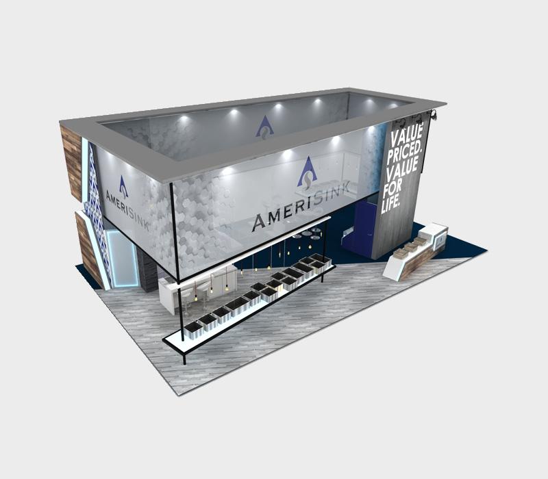 30x50 Custom Trade Show Booth