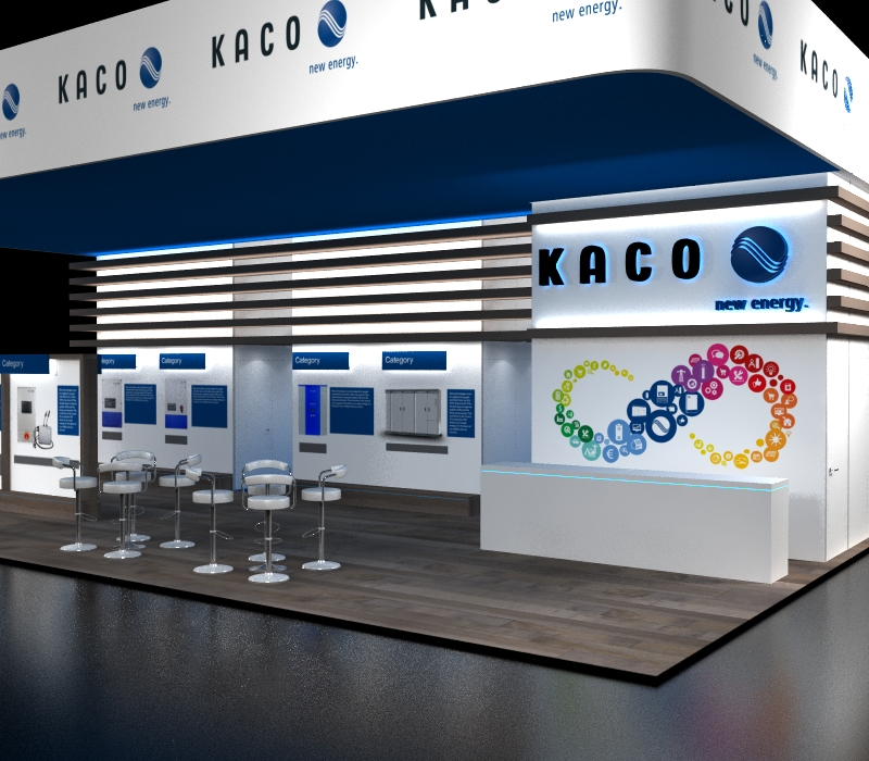 Trade show booth reception desk