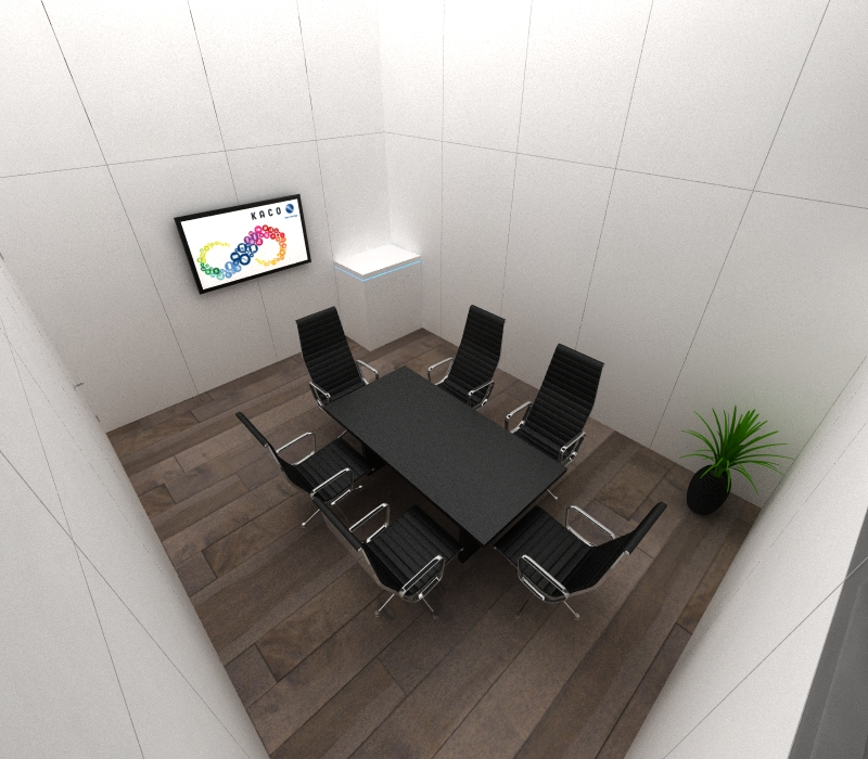Conference room trade show booth