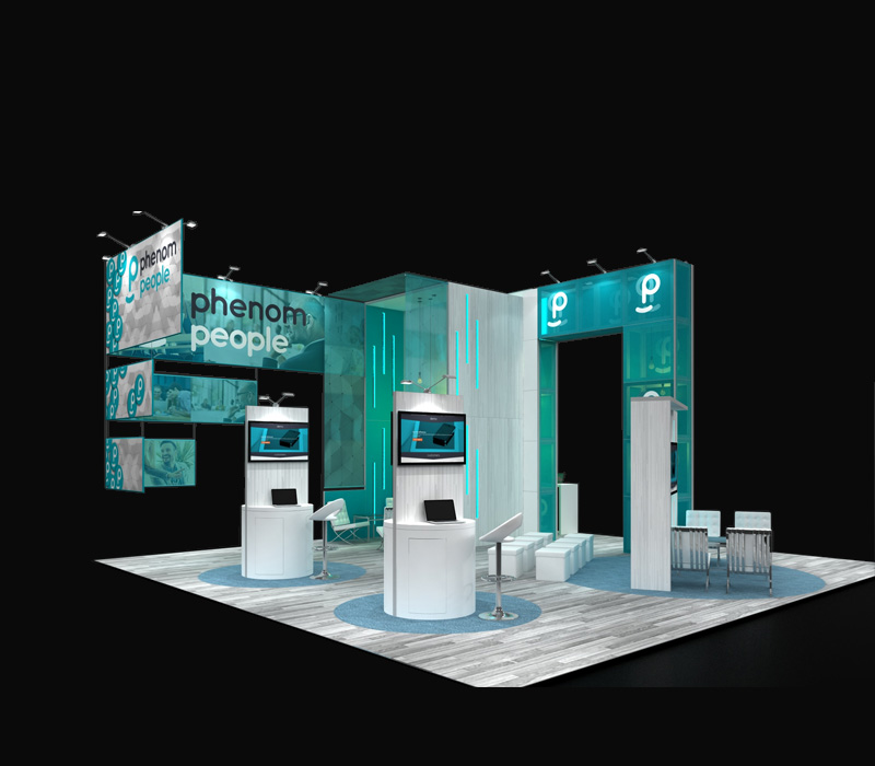 30 x 30 Custom Trade Show Display