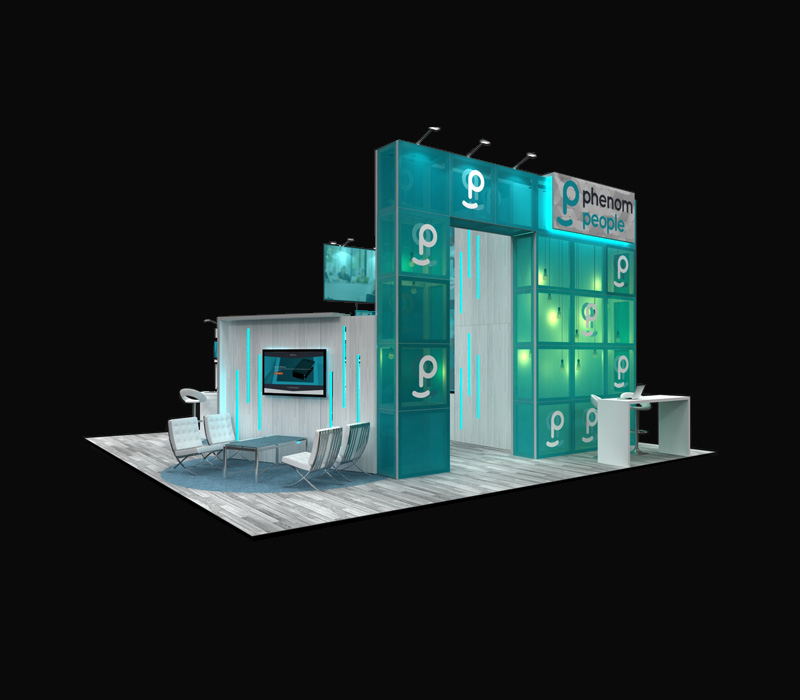 30 x 30 Custom Trade Show Exhibit
