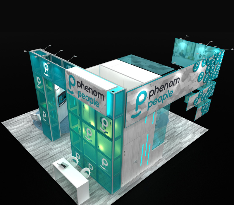 30 x 30 Custom Trade Show Booth