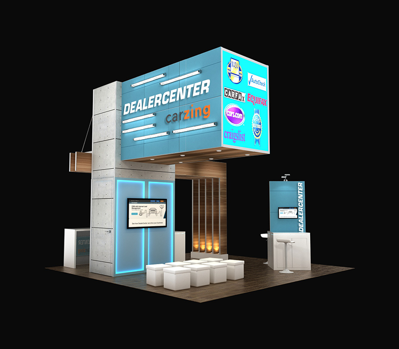 20x20 trade show display