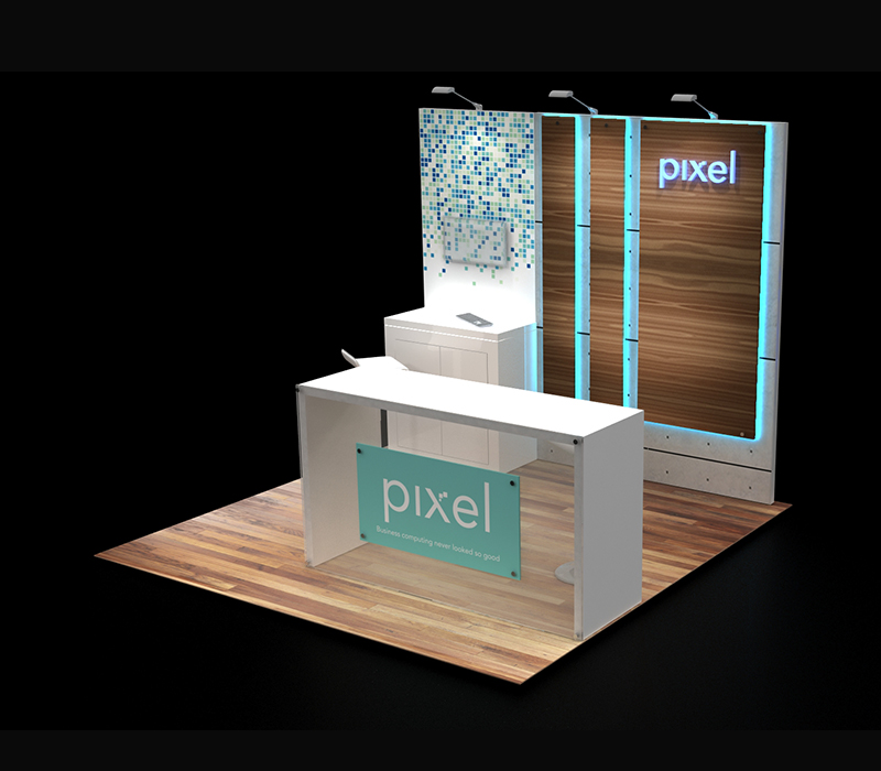 Configurable 10 x 10 booth