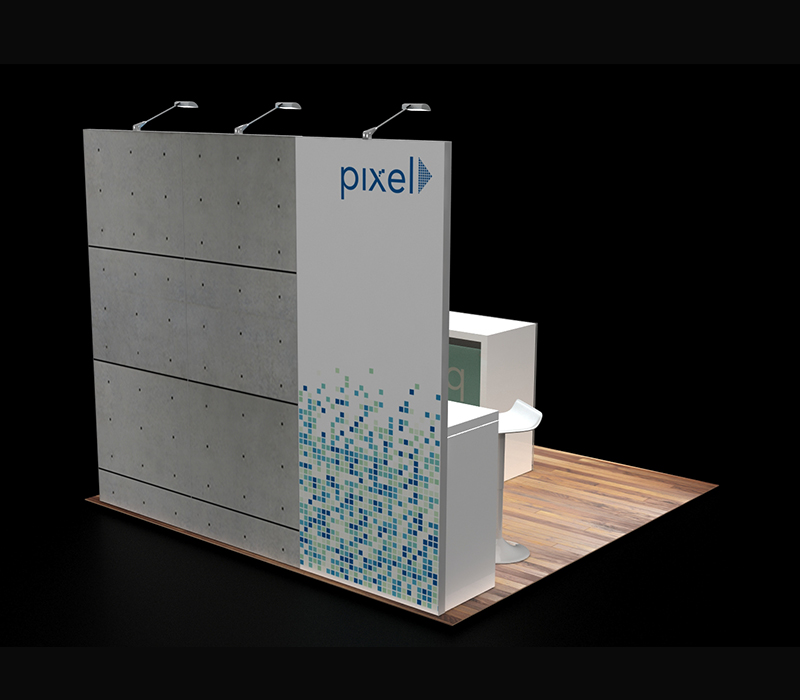 Configurable 10 x10 exhibit