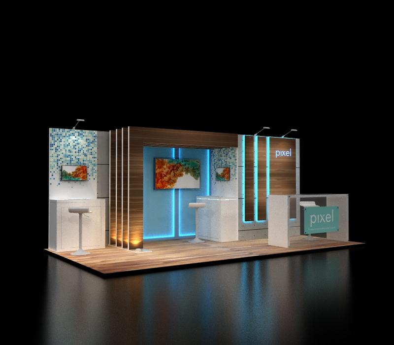 10 x 20 reconfigurable custom booth