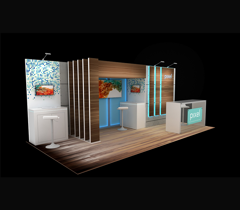 10 x 20 reconfigurable custom booth
