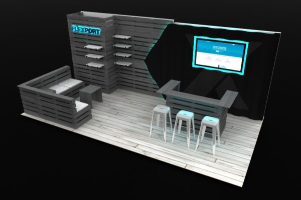 lounge-style inline booth