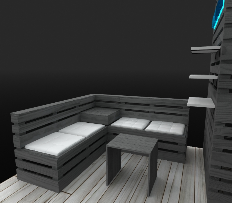 lounge seating inline booth