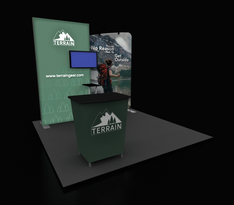 10 x 10 retail pop up booth
