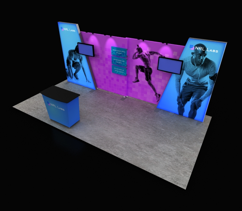fitness industry pop up booth