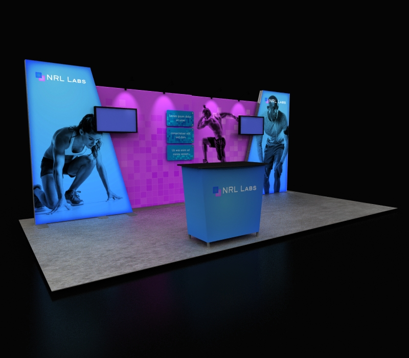fitness industry pop up display
