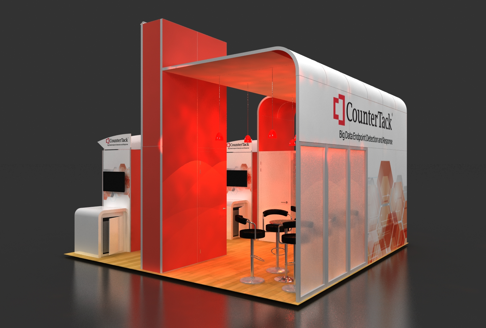 Trade show booths at RSA Conference