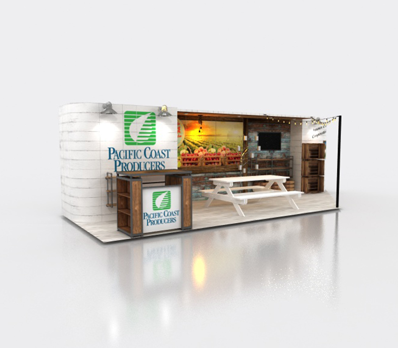 natural products custom booth