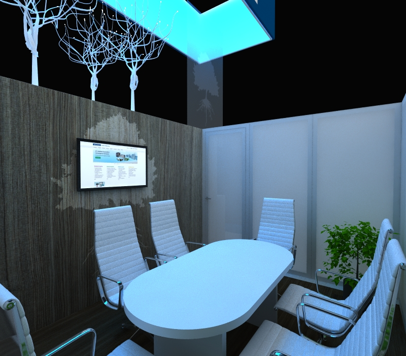 Custom trade show display conference room