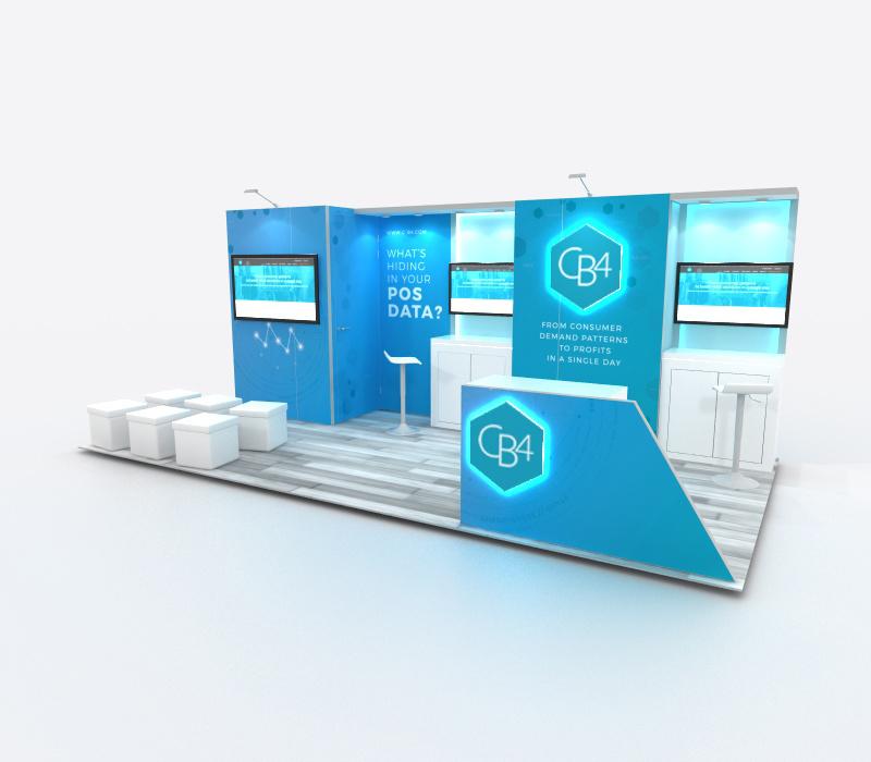 Custom trade show inline display