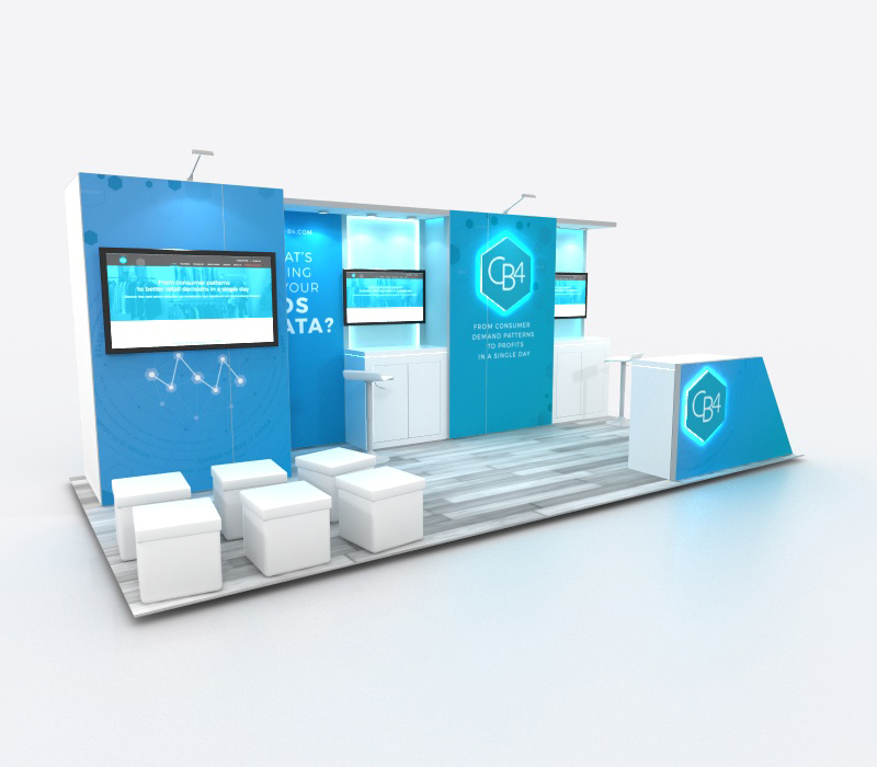 Custom trade show inline booth