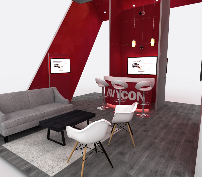 Custom trade show lounge and reception area