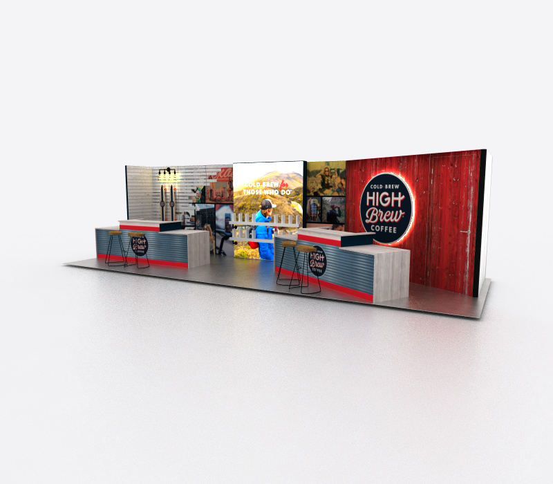Custom coffee bar trade show display