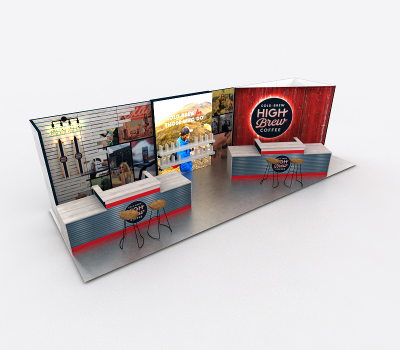 Custom coffee bar trade show exhibit