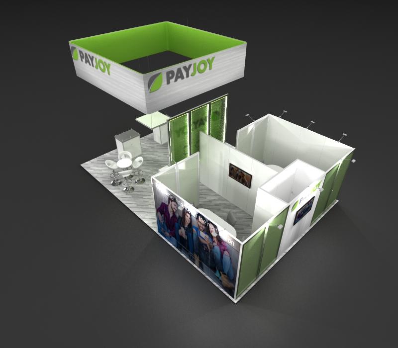 custom expo displays top view