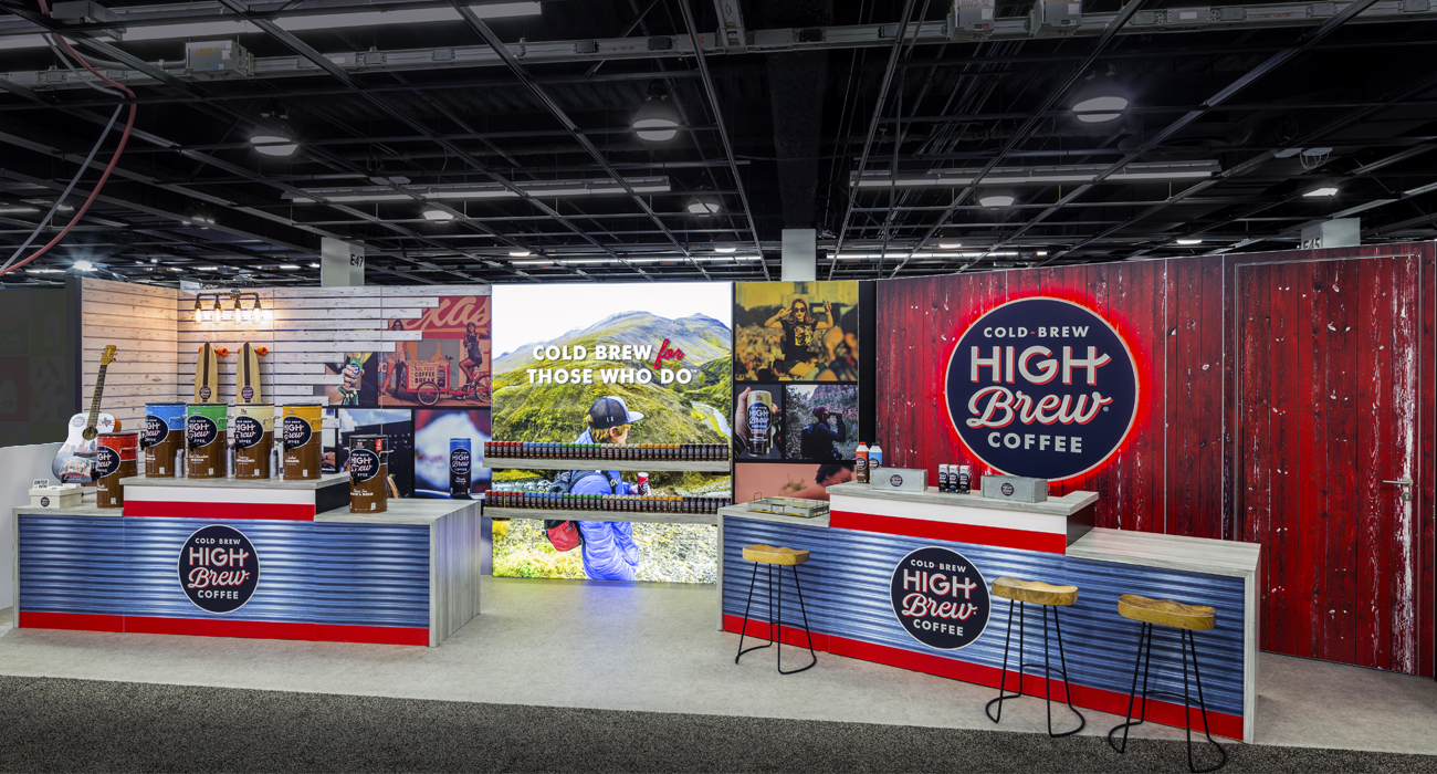 Trade show booths at Natural Products Expo West