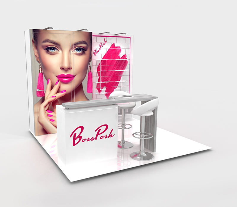 beauty trade show booth